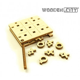 Petit jeu Morpion N°2 - Wooden City WG202