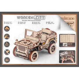 Puzzle 3D en bois Jeep 4x4 - Wooden City WR309